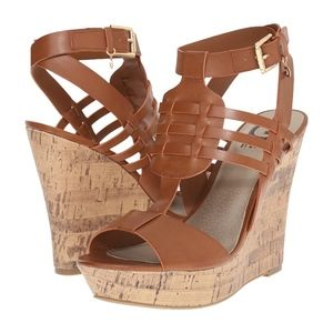 Shoes - G by Guess Tan Wedges